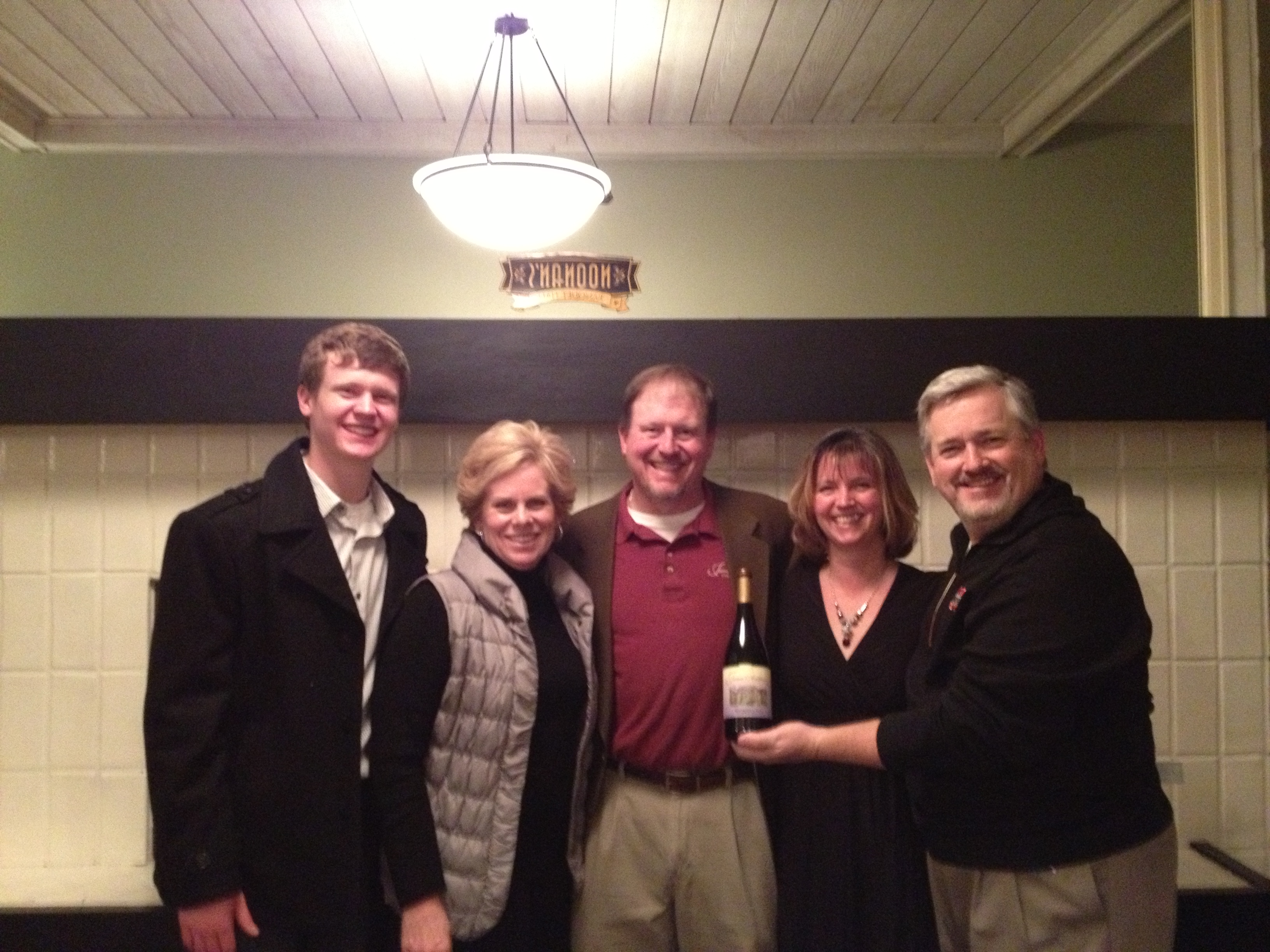 CFN Board Members Wendy Frenzel and Brian O'Hearn with James and Beau Ballard of James Arthur Vineyards and Cheryl O'Hearn