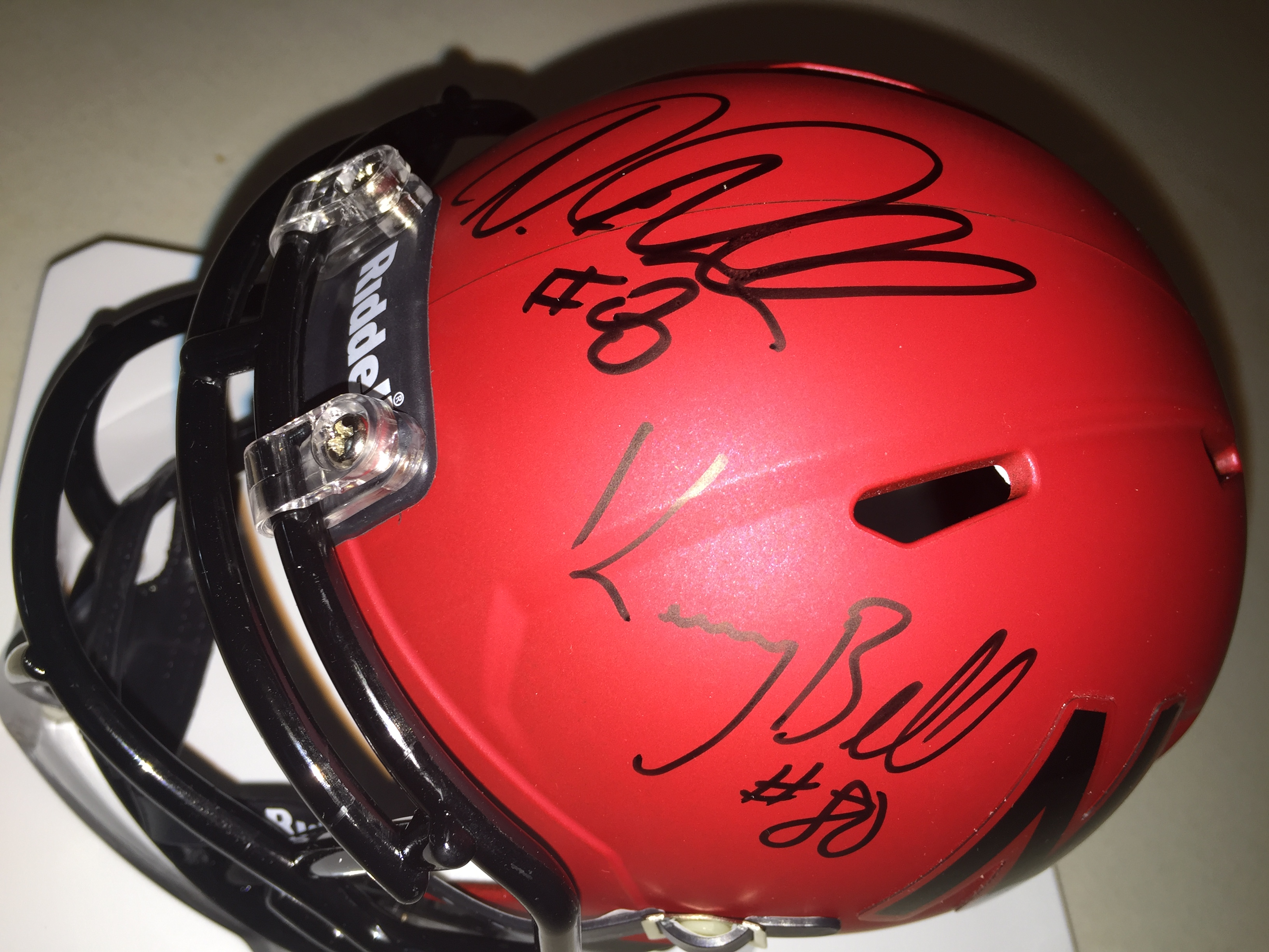 Ameer Abdullah and Kenny Bell mini helmet